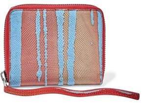 Rick Owens Dégradé Lizard-Effect Leather Wallet