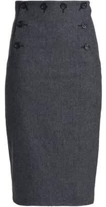 RED Valentino Herringbone Wool-Blend Skirt