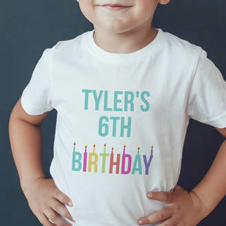 Hurley Sarah Children's Personalised Birthday T Shirt