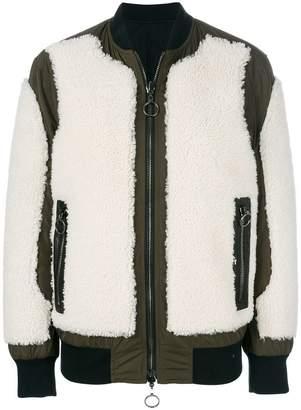 combined panel bomber jacket