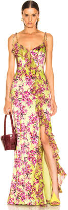Cinq à Sept Velma Gown in Lemon Grass Multi | FWRD