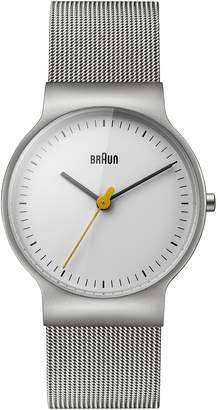 Braun Women's BN0211WHSLMHL Classic Slim Analog Display Japanese Quartz Silver Watch