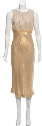 Tory Burch Canvas-Gold Evening Dress