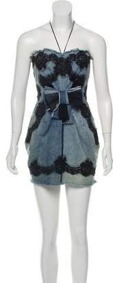 Dolce & Gabbana Distressed Denim Dress