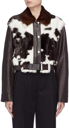 3.1 Phillip Lim Calfhair panel leather jacket