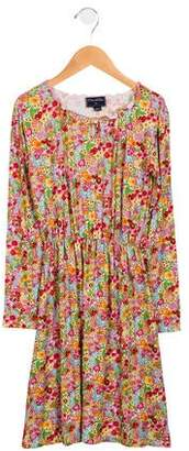 Oscar de la Renta Girls' Floral Knit Dress