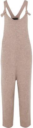 Hatch The Knit Wool-blend Overalls - Dark brown