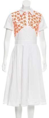 Tanya Taylor Embroidered Midi Dress