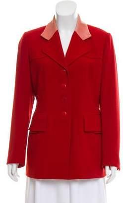 Hermes Velvet -Trimmed Wool Jacket