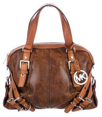 MICHAEL Michael Kors Distressed Leather Satchel