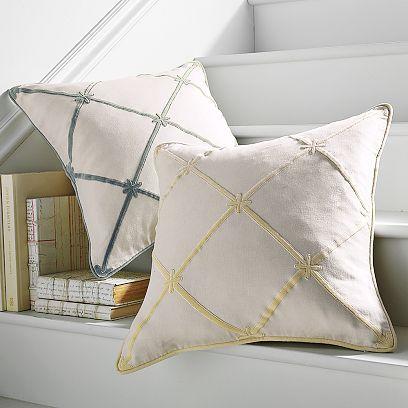 Velvet Appliqué Pillow