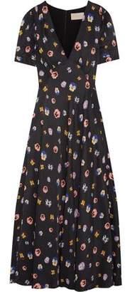 Christopher Kane Printed Crepe De Chine Maxi Dress