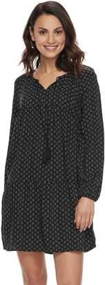 Sonoma Goods For Life Petite SONOMA Goods for Life Tie Neck Peasant Dress