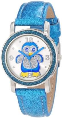 Original Penguin Frenzy Kids' FR462 Blue Glitter Strap Watch