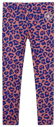 Converse Girls' Pink Leopard Print Leggings