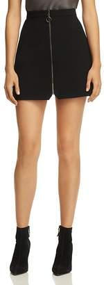 Alice + Olivia Riley Zip-Front Mini Skirt