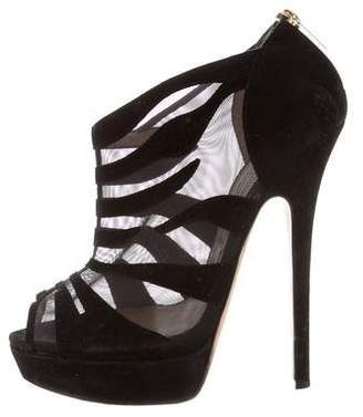 Jimmy Choo Mesh Platform Booties