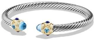 David Yurman Renaissance Bracelet with Blue Topaz, Lapis Lazuli and 14K Gold