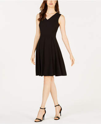 Calvin Klein Illusion-Back Fit & Flare Dress