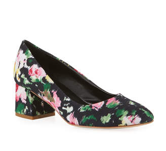 Sesto Meucci Mietta Floral Block-Heel Pumps