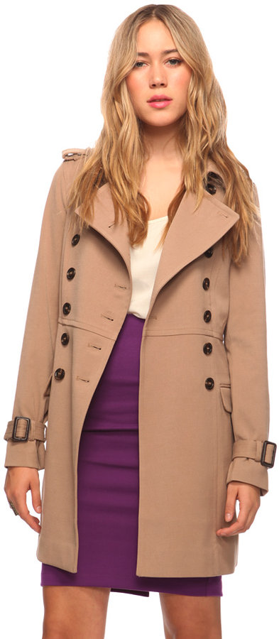 Forever 21 Double Breasted Trench Coat