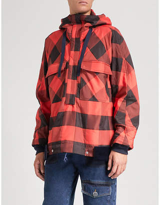 Sacai Buffalo check woven jacket