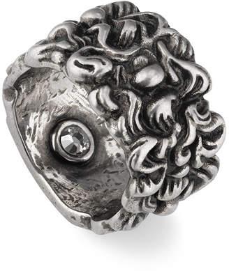 282599de5 Gucci Men's Large Lion Head Band Ring