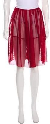 Marni Mesh Knee-Length Skirt