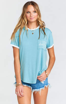 Show Me Your Mumu Sandlot Pocket Tee ~ Sea La Vie Graphic