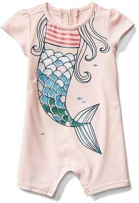 Mermaid short rashguard one-piece $29.95 thestylecure.com