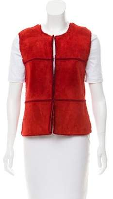 Brunello Cucinelli Shearling & Cashmere Vest