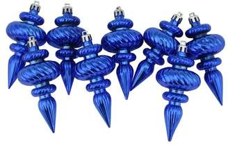 The Holiday Aisle Swirl Shatterproof Christmas Finial Ornament