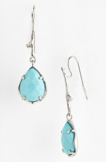 Kendra Scott 'Clara' Drop Earrings Turquoise/ Silver