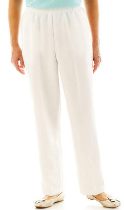 Alfred Dunner White Pull-On Pants - Short
