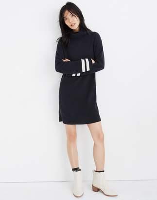 Madewell Bell-Sleeve Turtleneck Sweater-Dress in Nautical Stripe