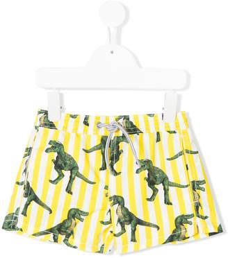 MC2 Saint Barth Kids dinosaur print swim shorts