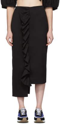 Edit Black Frill Step Hem Skirt