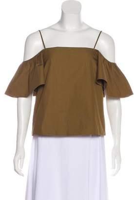Fendi Off-The-Shoulder Short Sleeve Top