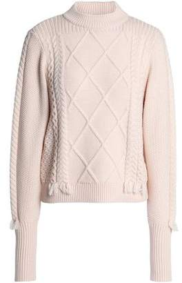 Veda Tasseled Wool Cable-Knit Sweater
