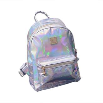 ShiningLove Girls Shiny Hologram Laser PU Shouder Bag Satchel Backpack School Daypack