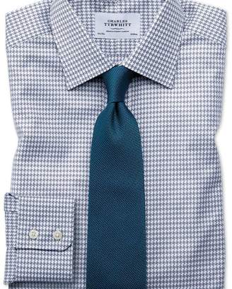 Charles Tyrwhitt Classic fit large puppytooth light grey shirt