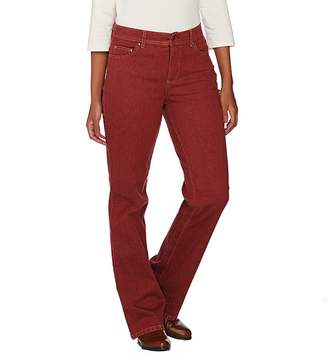 Denim & Co. Petite Slightly Boot Cut 5-Pocket Jeans