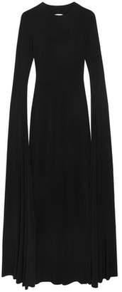 Norma Kamali Open-Back Jersey Maxi Dress