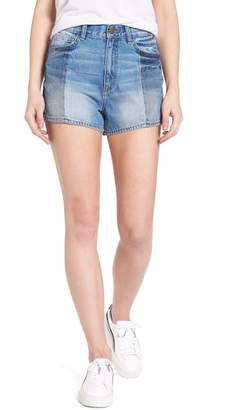 Evidnt Two Block Washed High Waist Denim Shorts
