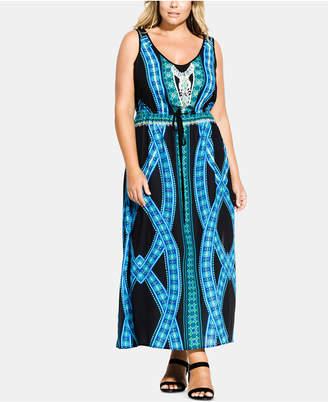 Plus Size Aqua Women Dress - ShopStyle
