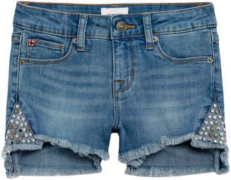 Hudson Girls' Leah Studded Denim Shorts, Size 7-16