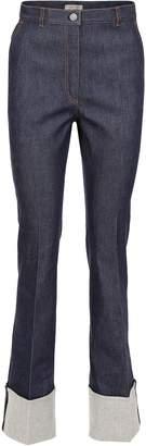 Bottega Veneta Jeans With Turn-up And Woven Nappa
