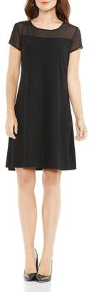 Vince Camuto Sheer Panel Shift Dress