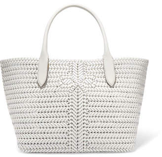 Anya Hindmarch Neeson Woven Leather Tote - Off-white