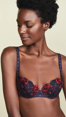 Lejaby Maison Check and Roses Padded Demi Cup Bra